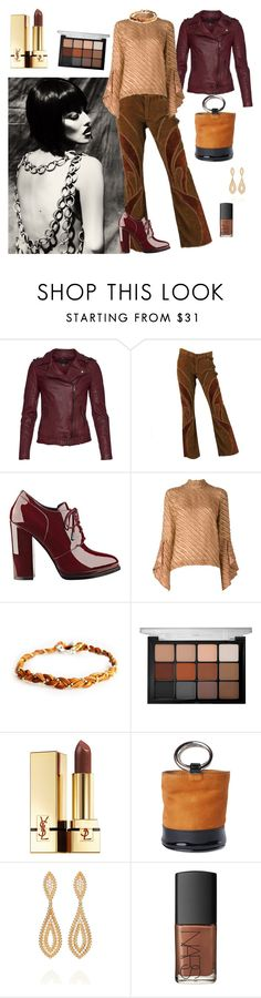 """""""Glamor Gal"""" by denibrad ❤ liked on Polyvore featuring MuuBaa, GUESS, Marco de Vincenzo, Viseart, Yves Saint Laurent, Simon Miller, Carla Amorim and NARS Cosmetics"""