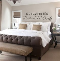Maybe for above our bed? Husband and Wife Best friends for life Wall by VinylDecorBoutique, $13.00