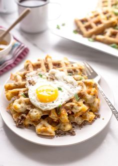 Savory Waffles with