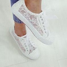 Converse Wedding Shoes, Wedding Sneakers, Wedge Wedding Shoes, Wedding Shoes Bride, Lace Sneakers, Bride Shoes, Lace Shoes, Converse Sneakers, Wedge Shoes