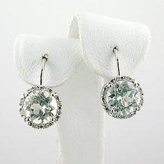 White Topaz Diamond Earrings $105