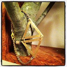 The Margot Bracelet  handcut brass delicate hinged by wastedeffort, $75.00
