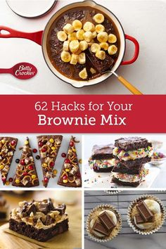 You'll be surprised how outside the box these creative brownie recipes are, especially since they all start with a box of Betty's brownie mix. Whether you like 'em ooey-gooey or chewy, extra-chocolatey or a paired with peanut butter, we've got a brownie dessert for you.