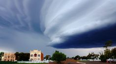 Photo by: Rachael Brenton-Rule Taken in Coolgardie on March 19 2013 of the Supercell cloud formation above the RSL building Nature's Miracle, Weather Day, First Class, Thunderstorms, Hot Days, Western Australia, Bouldering, Science Nature, Mother Nature