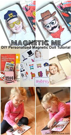 Magnetic Me DIY personalized magnetic doll tutorial - use a photo of your own kid!