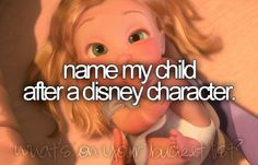 name my child after a disney character
