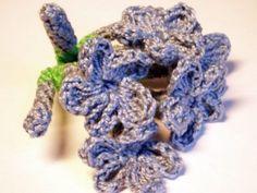 CROCHET PATTERNS (Pattern #15 Blue Plumbago) -Crochet & Knit Design Heaven