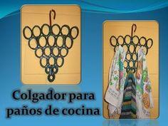 ▶ Colgador para paños de cocina reciclado - YouTube