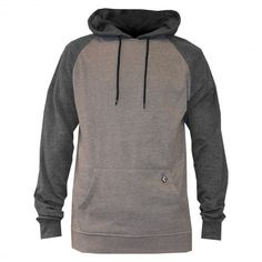 VOLCOM Timesoft Pullover sweat à capuche grey - bear brown 59€ #volcom #sweatcapuche #hoodie #hoody #hoodies #fleece #hood #skate #skateboard #skateboarding #streetshop #skateshop @April Gerald Skateshop