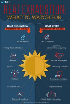 Do you know the signs of heat exhaustion and heat stroke? Important info to share with friends and family: First Aid Tips, Rapid Heart Beat, Brain System, Healthy Cholesterol Levels, Feeling Weak, Medical Information, Natural Health Remedies