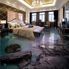 269.10$  Buy now - Free Shipping Aesthetic Seaside Beach Living Room Bathroom 3D Floor thickened kitchen restaurant bedroom lobby flooring mural  #buymethat