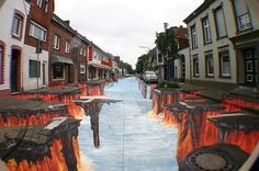 Beautiful 3D Street Art Painting 25+ New Cool & Creative 3D Street Art Paintings 2012