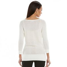 Dana Buchman Textured V-Neck Sweater - Women's