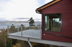 Choice Construction, Remodel, Custom Homes, Gig Harbor, Home Exterior, Modern, View, Deck
