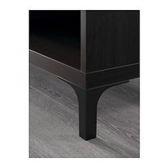 IKEA - NANNARP legs (black or white) raise your BESTÅ combination from the floor, giving a light airy look and making it easy to clean the floor underneath. $15/2 or $30 to complete Besta entry console.  $78+$30+$30 or $138 total for entry console. Convert to under window in small bedroom.