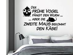 Lustiges Schlafzimmer Wandtattoo Die zweite Maus ... von Wandtattoo.net