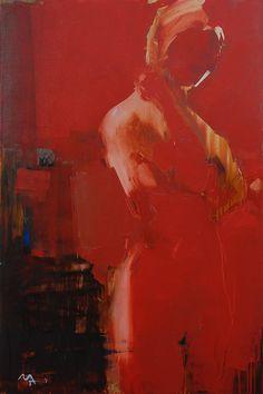 Alina Maksimenko, Red figure, 140x90. http://alinamaksimenko.com/projects.html#