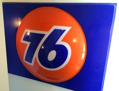 Reclaimed 76 gas station sign Howell Furniture, Gas Station, Chicago Cubs Logo, Team Logo, Sign, Logos, Logo, Signs, Board