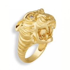 Sydney Evan ring: Yellow-Gold & Champagne Diamond Panther Ring