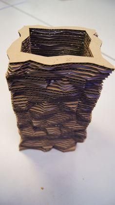 Cardboard Build of Random Vase V2 by ecalmon - Thingiverse