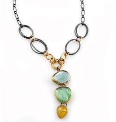 Summer Day Necklace by Sydney Lynch Custom Jewelry, Jewelry Art, Gemstone Jewelry, Jewelry Bracelets, Jewelry Design, Necklaces, Jewellery, Jewelry Ideas, Pendant Design