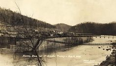 Norris Dam in 1934. -  I look at this land and know that a lot of my family once lived here before they were relocated by the TVA.  The TVA did find them a good place to live.