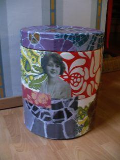 collage en caja de carton