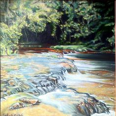 Forest River . - Painting by Zoltán Jakab at touchtalent 78122 at touchtalent 78122
