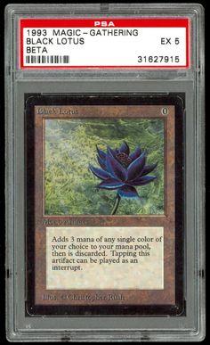 MTG PSA Graded EX 5, Beta Black Lotus (Most Desirable MTG Card Printed)