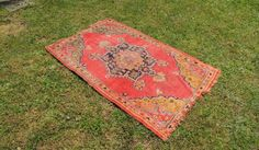 Semi Antique Worn Turkish Area rug