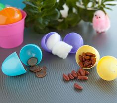 Easter Fun for Your Little One... tape the eggs shut first. :)