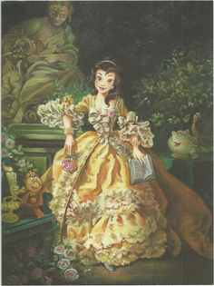 Belle Maria Elena Naggi Oil on canvas From: The Art of the Disney Princess This is another of my very favourite images from the book. It was done in the style of Francois Boucher's 1759 painting of the brilliant Madame de Pompadour (Jeanne Antoinette Poisson).