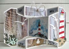 Marianne Design, Tim Holtz, Scrapbook Cards, Nautical, December, Create, Strand, Blog, Tags