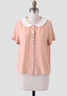 So In Love Button-Up Blouse