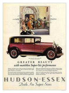 hudson essex vintage car advert art deco by nostalgicphotosandprints, via Flickr