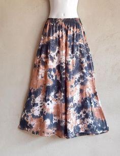 Black Brown Skirt Boho Festival Hippie Gypsy Skirt Summer | Etsy Festival Skirts, Boho Festival, Shibori Tie Dye, Gypsy Skirt, Brown Skirts, Hippie Boho, Party Wear, Tie Dye Skirt, Casual Wear