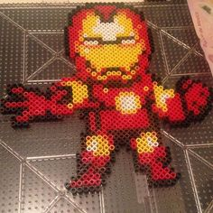 Iron Man hama beads by ivgopa