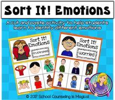 Sort It! Social Emotional Activities, Emotions Activities, Teaching Social Skills, Interactive Activities, School Guidance Counselor, Elementary School Counseling, School Social Work, Group Therapy Activities, Behavior Reflection
