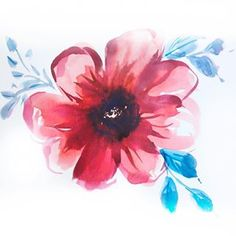 Big blooms and experimenting with different styles. I'm in a creative rut at the moment and nothing I do seems good enough. I feel like… Watercolor Flower Wreath, Watercolor Feather, Feather Painting, Easy Watercolor, Watercolour Tutorials, Flower Art, Watercolour Painting, Abstract Shapes, Painting Inspiration