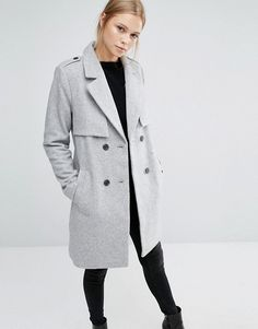 Vila | Vila Double Breasted Coat