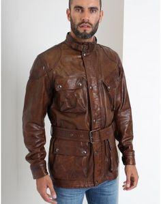 d730cf120e Belstaff Cognac Panther 4 Pocket Belted Jacket Man - Belstaff, Panther,  Cars And Motorcycles