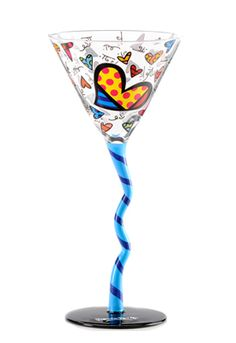 WINE GLASS: TRIANGLE HEARTS 331644