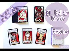 Hello my friends~ today I'd like to share with you a quick review of a super cheap tarot hehe. The box came with a small guidebook, a 'table cloth' and all the mayor and minor arcana cards. I bought mine at dollar tree for $1 dollar! XD