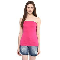 Ajile by Pantaloons Women's Casual Solid Tube Top (205000005573224_Raspberry Pink_ L)  available at amazon for Rs.179