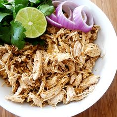 Mexican shredded chicken in crock pot