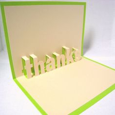 Thanks Pop Up Card by CookieBits on Etsy