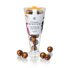Our Christmas Rum Punch Winter Cocktail glass is filled with 24 delicious Rum Punch flavoured baby truffles for sharing and passing at Christmas get-togethers. #hotelchocolat #hcdreamhamper