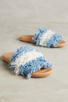 f2ce6e2f7c16 Frayed Denim Slides All About Shoes