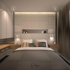 Master bedroom design in modern design, simple and elegant neutral color.