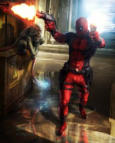 Deadpool, Aleksi Briclot on ArtStation at http://www.artstation.com/artwork/deadpool-07c9e21d-ed7c-42a1-91fb-6e5b05536bec